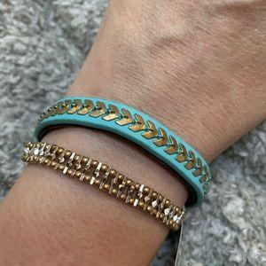 Aqua Gold Multi Strap Magnetic Clasp Bracelet
